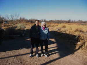 Judy Ackerman and me at Rio Bosque